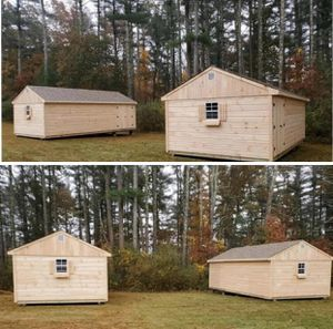 2 New Pine 12' x 24' A Frame Sheds for Sale in Wakefield, MA