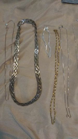 Silver necklaces and bracelet all real 925 for Sale in Columbus, OH