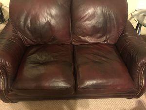 Burgundy Leather Sofa Set for Sale in Jonesboro, GA