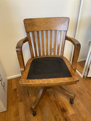 Antique oak swivel chair for Sale in Tacoma, WA