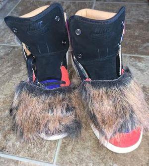 Nike Women Air Jordan 1 High Aleali May Court Lux Size 9.5 Viotech Fur BV2613-600 for Sale in Wichita, KS