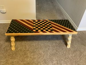 Stars & Stripes Checkerboard Coffee Table for Sale in Fort Worth, TX