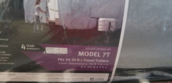 Deluxe Travel Trailer Cover