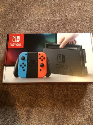 Nintendo Switch with 3 games & 2 controllers for Sale in St. Charles, IL