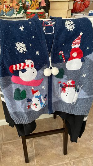 Christmas sweater/ vests-X-lrg for Sale in Sacramento, CA