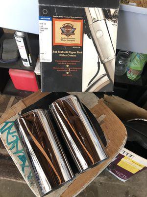 Harley Davidson Bar and shield upper fork slide covers for Sale in Pomona, CA