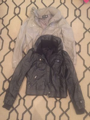 Black and grey leather bomber jackets for Sale in Boston, MA