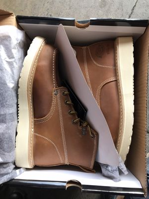 Dickies Men's Trader 6'' Work Boots - Soft Toe - Tan Size 8(M) for Sale in Temple City, CA