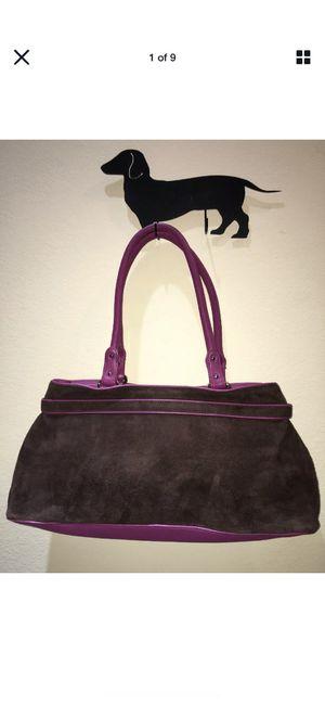 COLE HAAN ALEXA Suede Leather Handbag Satchel Hobo Purse Shoulder Roll Bag for Sale in Sugar Land, TX