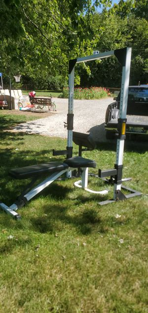 Weight bench and squat rack. Trades? for Sale in Franklin, IN