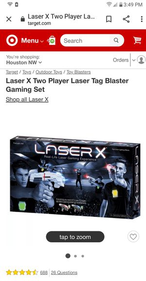 Laser Tag X Two Player Game for Sale in Tulsa, OK