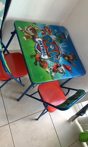 Kids paw patrol activity table & chairs for Sale in Homestead Base, FL