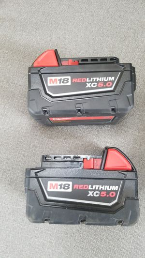 Milwaukee 5.0 battery set for Sale in Arlington, VA