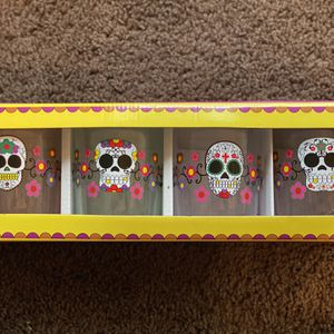 Set of Sugar Skull Double Old-Fashioned Glasses for Sale in Winder, GA