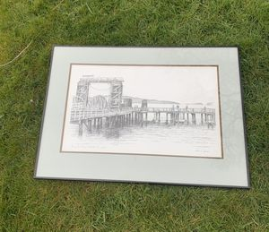 Signed Lithograph of Washington Bridge for Sale in Everett, WA