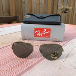 RAY BAN Sunglasses 3025 L0205 58MM GOLD CRYSTAL GOLD MIRROR AUTHENTIC/100% UV Protection NEW Large for Sale in Orlando,  FL