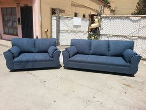 NEW ANNAPOLIS STEEL BLUE FABRIC COUCHES for Sale in San Diego, CA