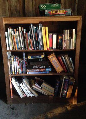 Books + bookshelf for Sale in McBain, MI