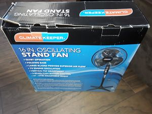 Brand new 16 in oscillating stand fan for Sale in Lemon Grove, CA