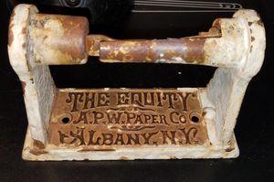 Antique Cast Iron toilet paper advertisement roll holder for Sale in Phoenix, AZ