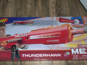 Nerf N-strike Mega Accustrike Thunderhawk Longest Darts Blaster Kids Toy Gun new for Sale in Cornelius,  OR
