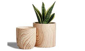 Ceramic Planter Flowerpots - 6 + 4.8 inch Modern Decorative Plant Pot Containers for Aloe Plants Flower Home Decor Indoor for Sale in Scottsdale, AZ