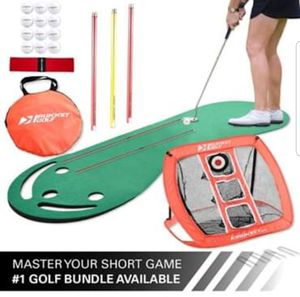 Golf - Short Game Sharpner - Putting Green and Chipping Net for Sale in Fort Worth, TX