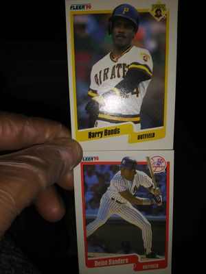 Excellent condition 1990s Fleer Barry bonds and Deion Sanders cards for Sale in San Leandro, CA