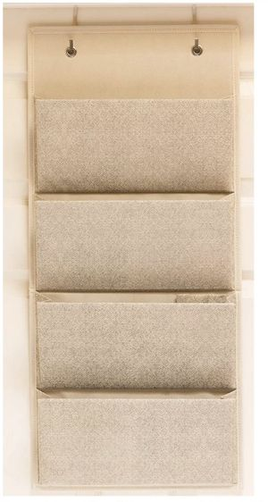 4 Pocket Fabric Wall Organizer for House, Closet Storage and Office with Wall Mount Or for Hanging Over The Door Or Cubicle. for Sale in Irwindale, CA
