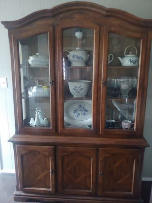 Beautiful wood china cabinet for Sale in Cleveland, TX
