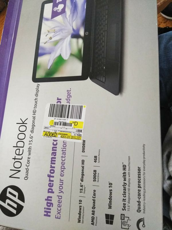 HP touch screen laptop