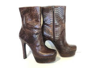 Jessica Simpson brown leather (alligator pattern) Ankle Boot size 7.5 for Sale in Thornton, CO