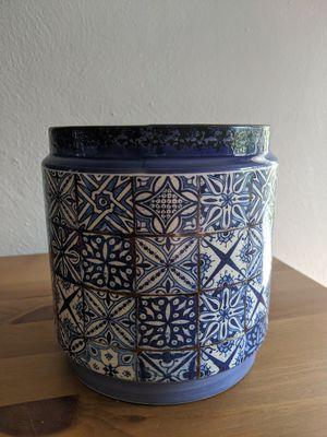 Blue Portuguese flower pot for Sale in Monongahela, PA