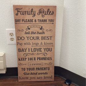 Family rules Wall Art for Sale in Seattle, WA