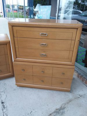 Huntley Tall boy dresser chest😁credit cards accepted! for Sale in Joliet, IL