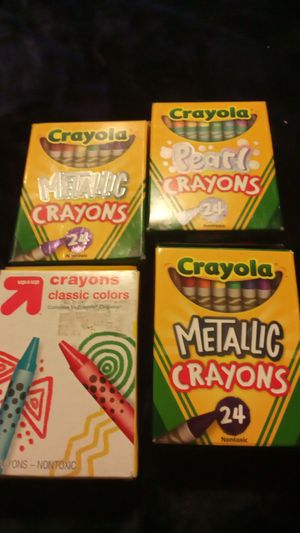 Metallic Crayons I have four of them for Sale in Riverside, CA