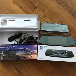 "Dual Lens Car Auto DVR Mirror Dash Cam Recorder (Front) + Rear View Camera (Back) Kit Touchscreen- NEW *** 7"" Dual Lens Mirror Dash Cam = $45 *** 10"" for Sale in San Jose, CA"