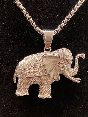 Stainless steel elephant pendant with chain for Sale in Riverdale, GA