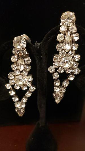 Faux Diamond Clip On Earrings for Sale in Irvine, CA
