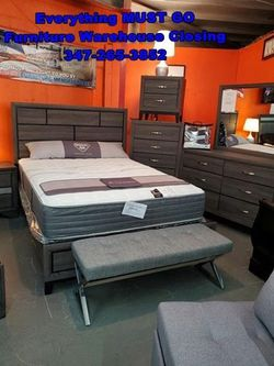 grey bedroom set. Must Go for Sale in Queens,  NY