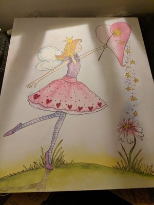 Large Fairy princess canvas room decor for Sale in Vancouver, WA