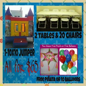 Jumper, tables, chairs.... for Sale in Torrance, CA