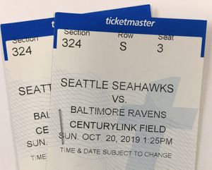 Seahawks vs ravens tickets for Sale in Tacoma, WA