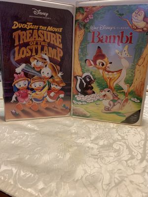 4 DISNEY CLASSIC VHS TAPES , BEAUTY &THE BEAST & BAMBI & PETER PAN & DUCKTALES for Sale in Franklin Square, NY
