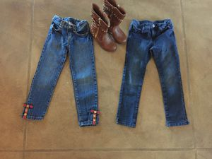 Girls Gymboree Jeans Size 5 & Size 12 boots for Sale in Oro Valley, AZ