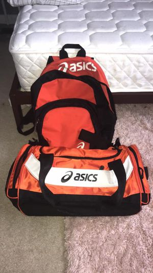 ASICS DUFFLE BAG AND BACKPACK for Sale in Odenton, MD