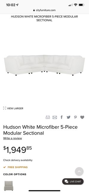 City furniture Hudson Sectional couch for Sale in Boca Raton, FL