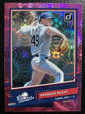 Brendan McKay 2020 Donruss/Panini #R-7 THE ROOKIES PINK FIREWORKS CARD!!TAMPA BAY! for Sale in NJ, US