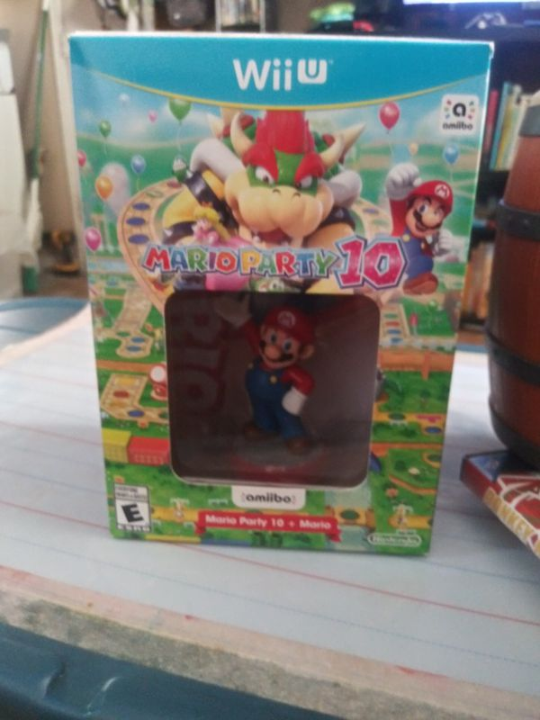 Mario Party 10 Wii u game and Unopened Amiibo