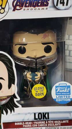 Funko Pop Loki 747 Marvel Avengers Endgame Glow In The Dark Limited Edition FUNKO SHOP EXCLUSIVE for Sale in Lakewood,  CA
